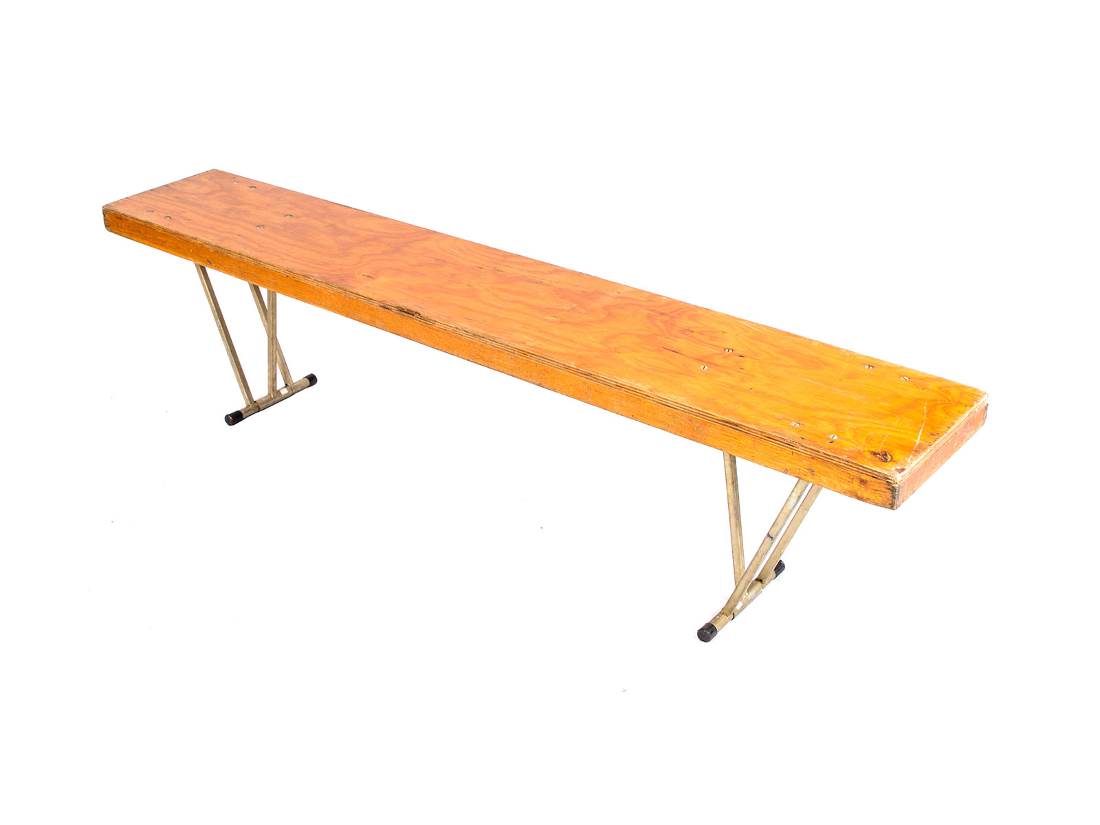 Timber bench seat – metal legs