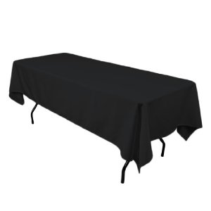 Black Tablecloth – 1.8m Trestle Table