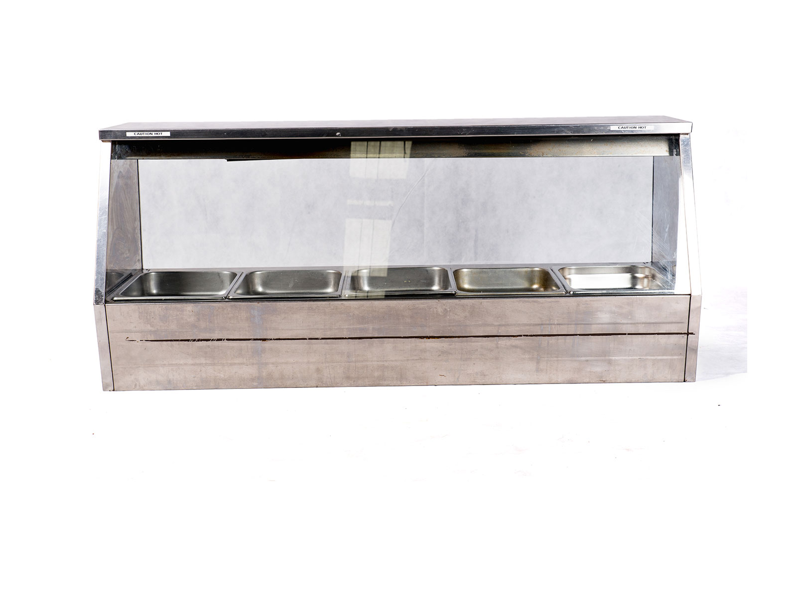 Bain Marie w. Glass Front – 5-Pot (Dry-Type)