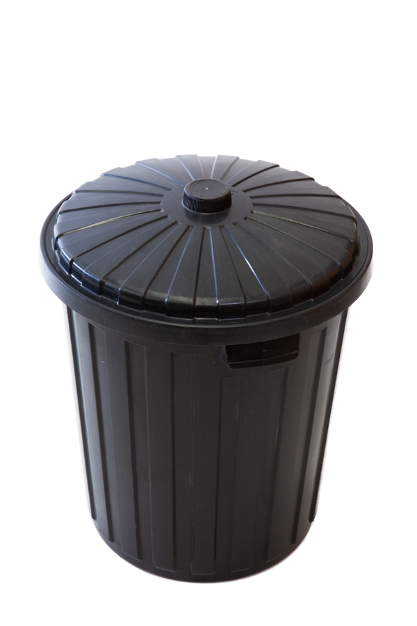 Rubbish Bin – Black Plastic