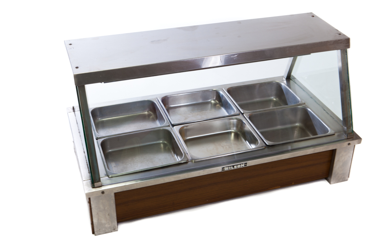 Bain Marie w. Glass Front – 6-Pot (Wet-Type)
