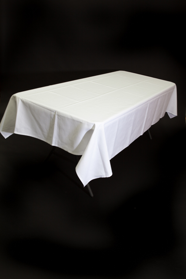White Tablecloth – 1.8m Trestle Table