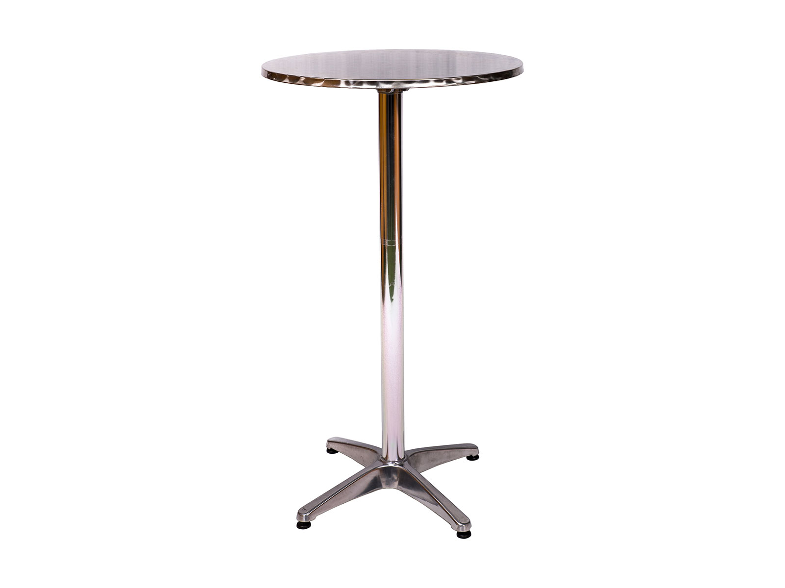 Cocktail Table - Silver - Party and Event Hire