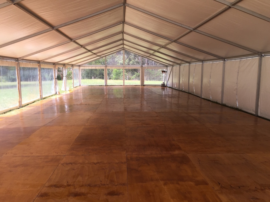 Marquee Flooring and Dance Floor –  Polished Timber