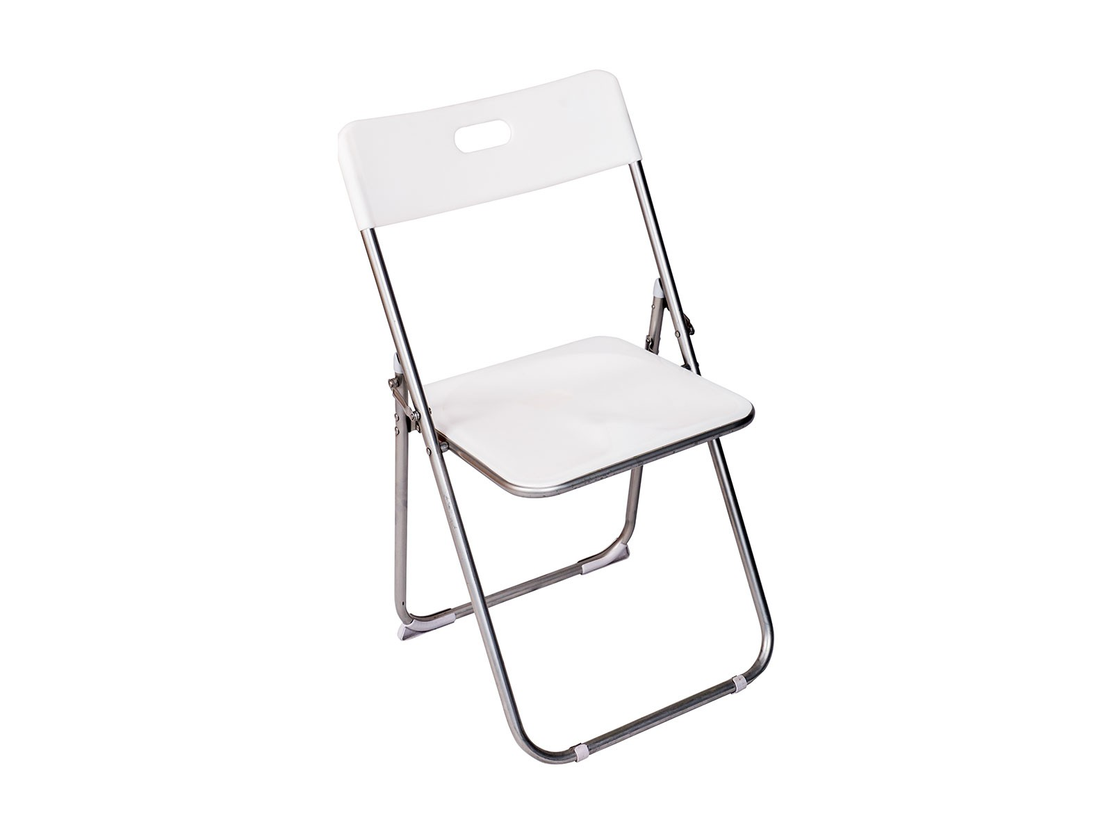 Folding Chair – White Plastic