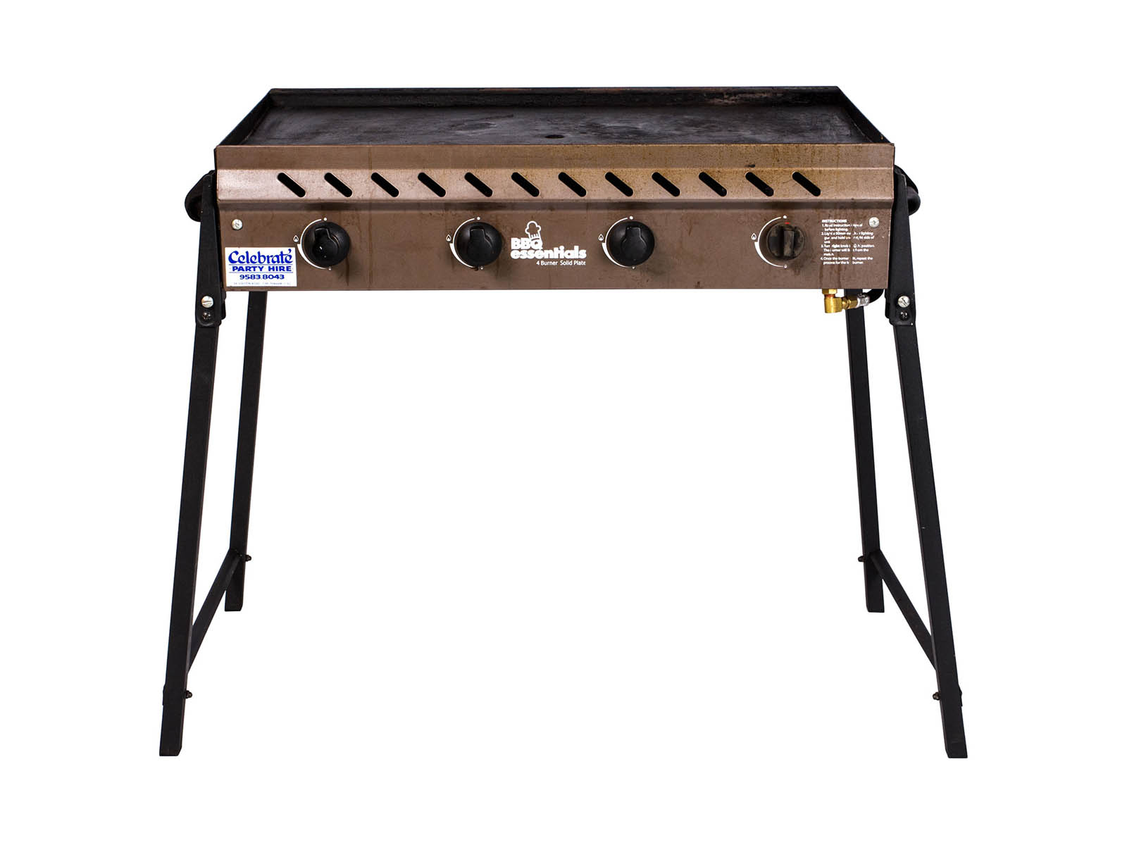 Gas Barbeque – Medium, Inc Gas (4 Burner)