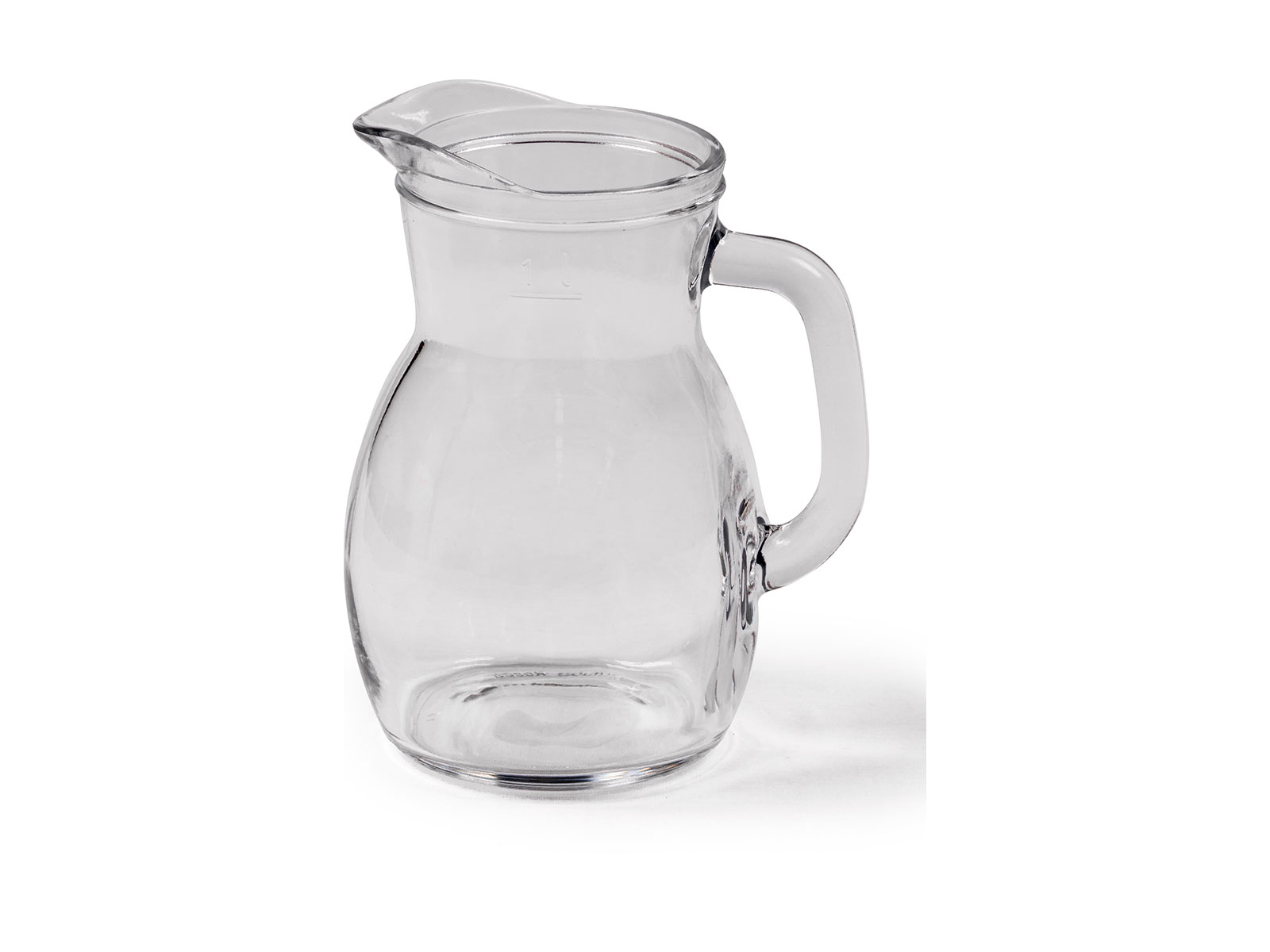 Water Jug – Glass 1L Round