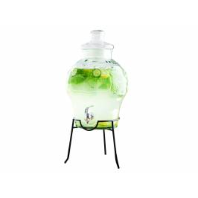 Water Dispenser and Stand – 8.5L Glass