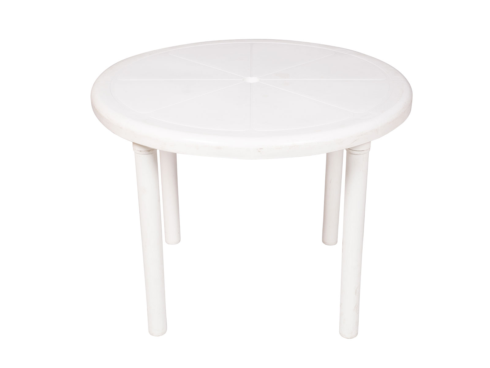 Round Table w. Legs – White Plastic
