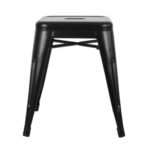 Tolix Stool (Low) – Matte Black
