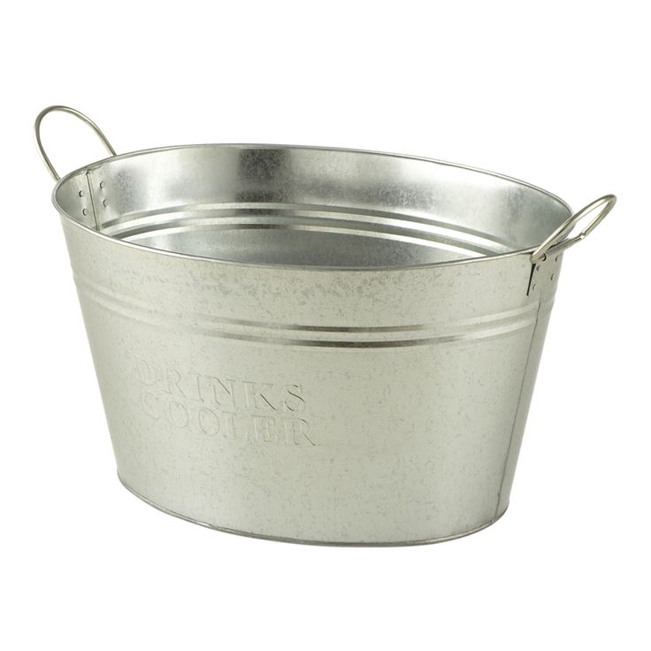 Ice Bucket – Galvanised Medium (Oval)