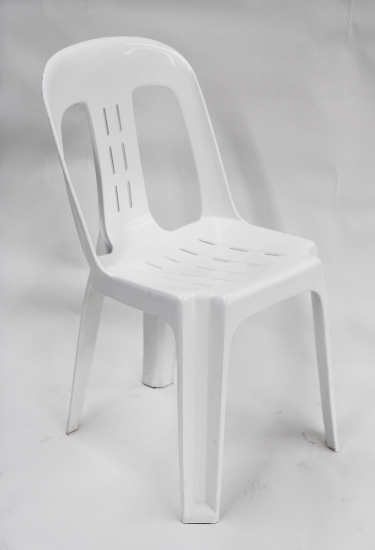 Stackable plastic chair white celebrate party hire - White resin stacking chairs ...