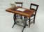 Vintage Signing Table Package – Wooden Table with metal base and 2 vintage chairs