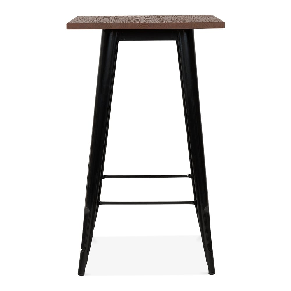 Cocktail Table, Tolix Black with Timber Top