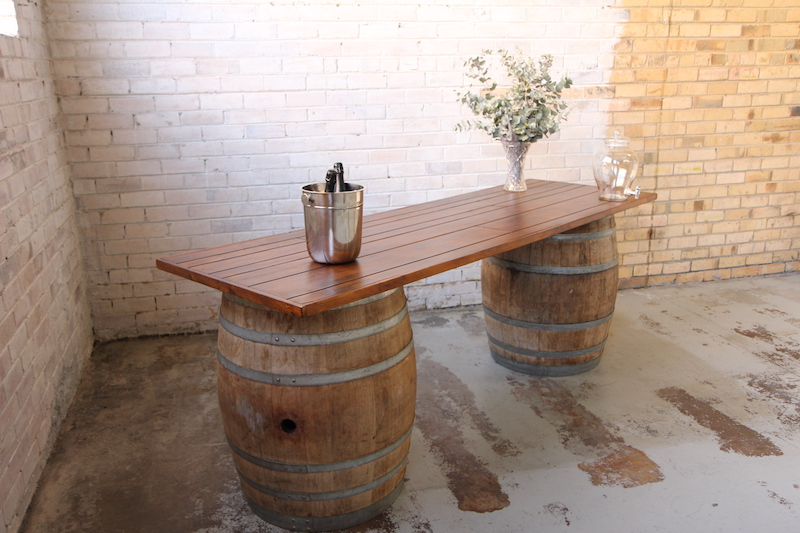 Wine Barrel Bar Top and Grazing Station