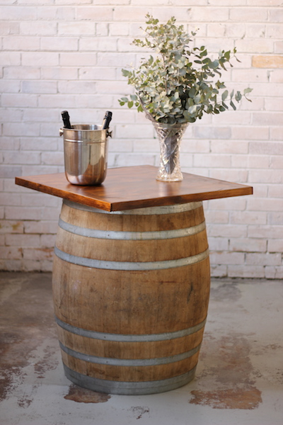 Wine Barrel Timber Top – Single Barrel