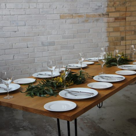 Dining Table – Solid timber with hairpin legs