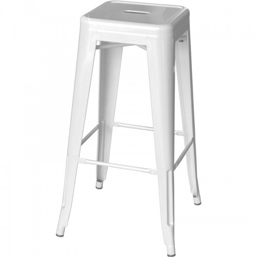 Tolix Bar Stool – White