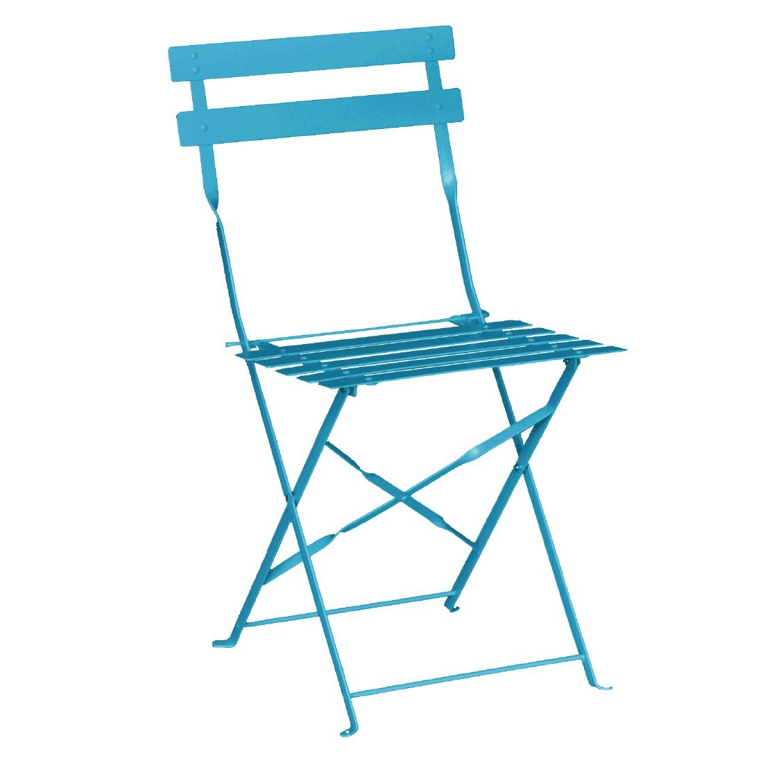 Parisian folding pavement chair – Blue