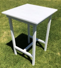 Cocktail Table – Vintage White Timber