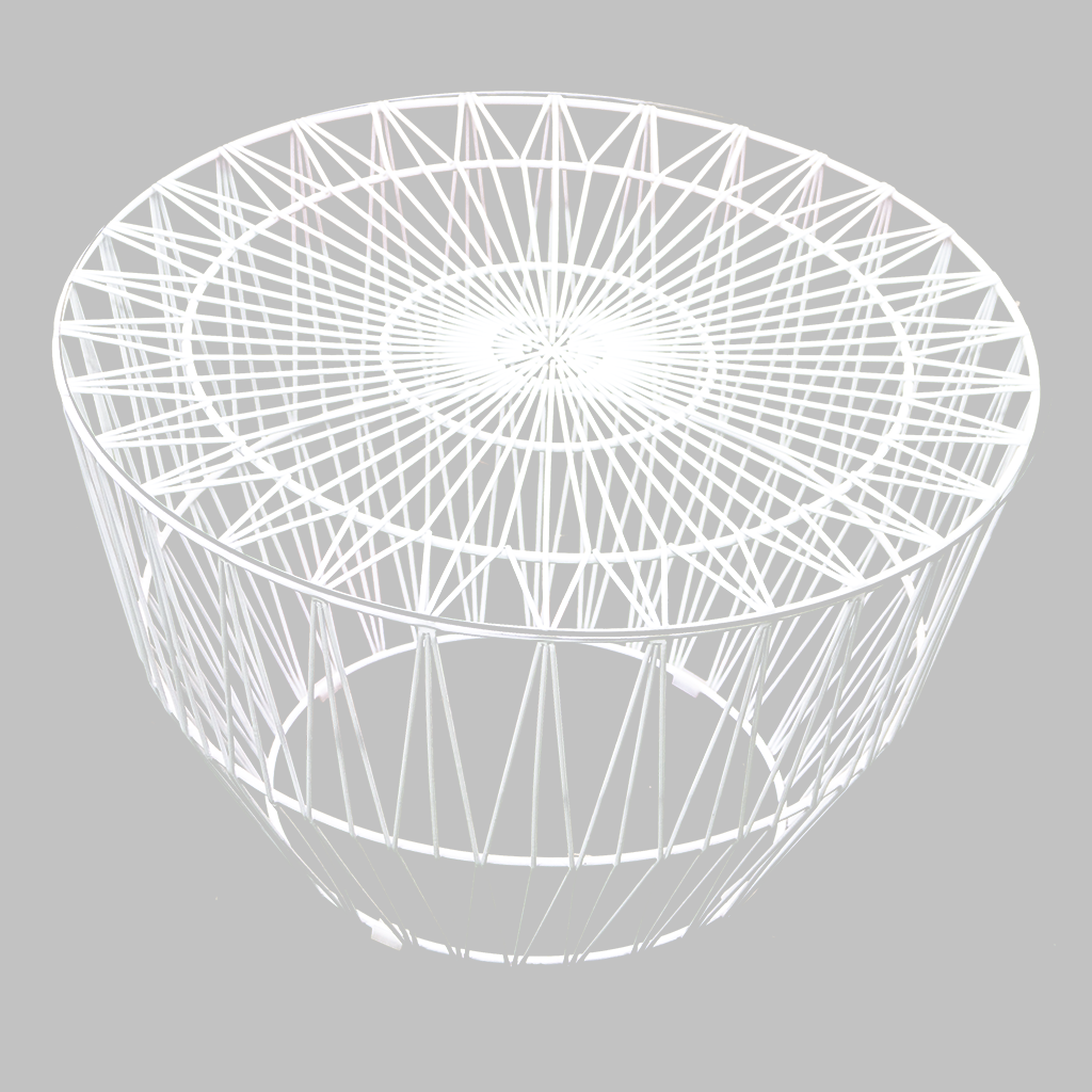 Coffee Table – White Wire