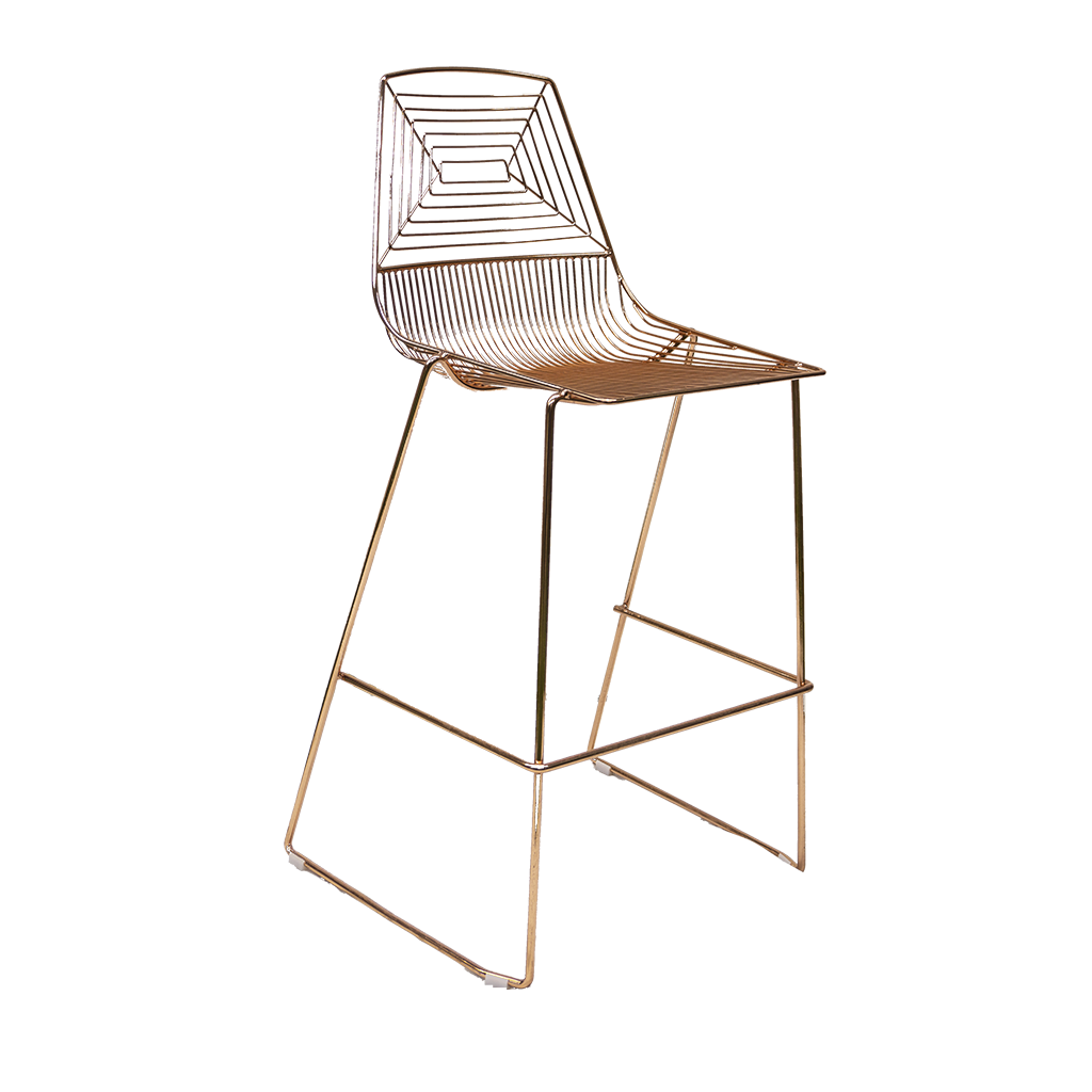 Wire Bar Stool – Rose Gold