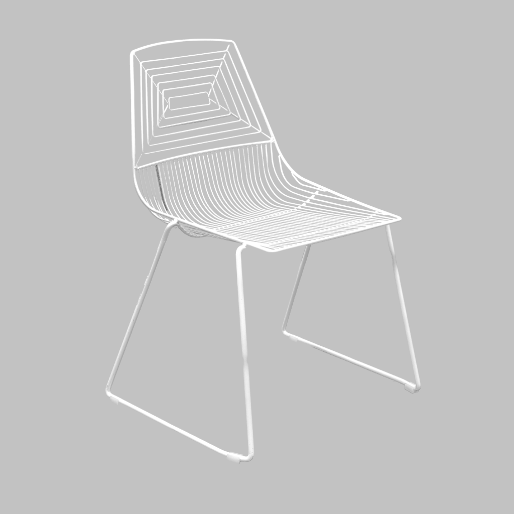 Wire Dining Chair – White