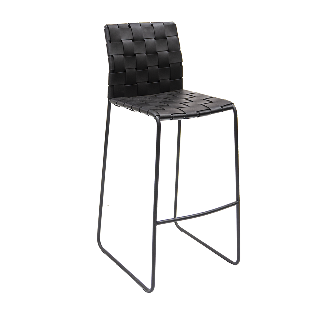 Bar stool, Black woven