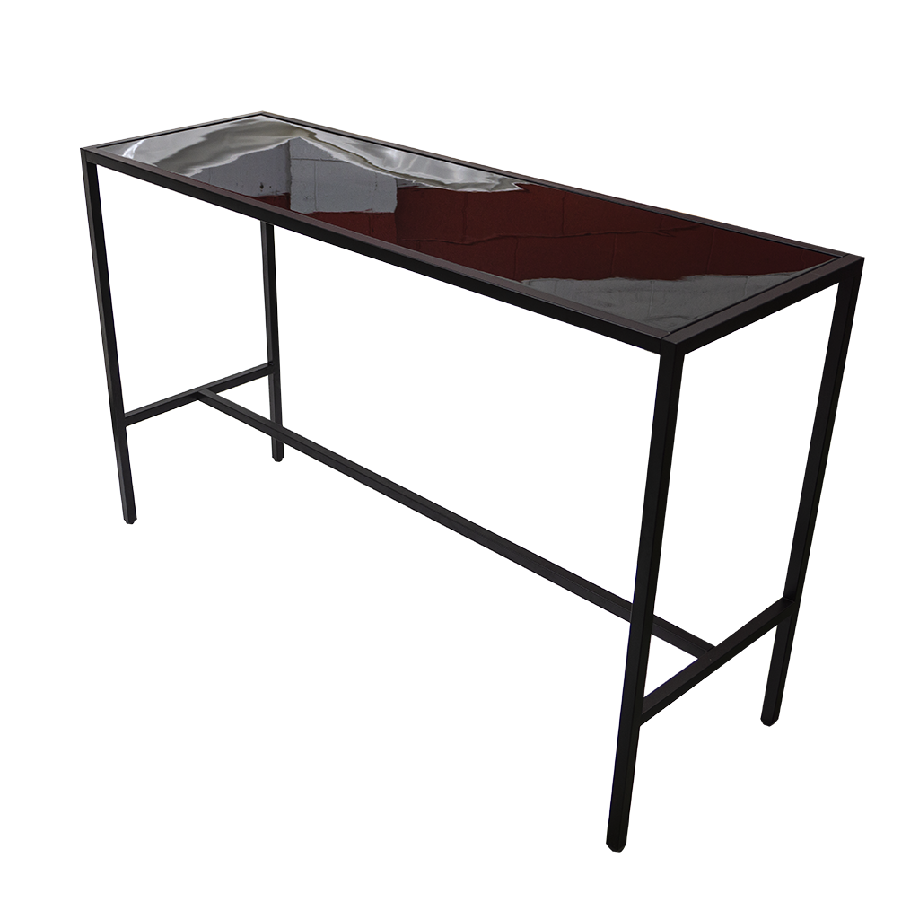 Cocktail Table – Rectangle Black with Black Gloss Top