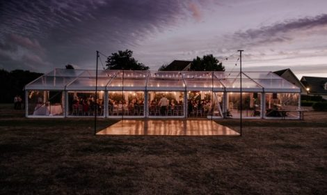 clear roof marquee