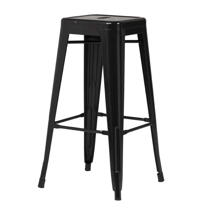 Tolix Bar Stool – Black