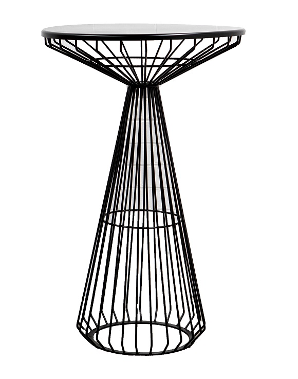 Cocktail Table – Black Wire Round