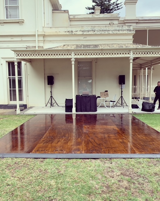 Outdoor Timber Dance Floor – Polished Timber