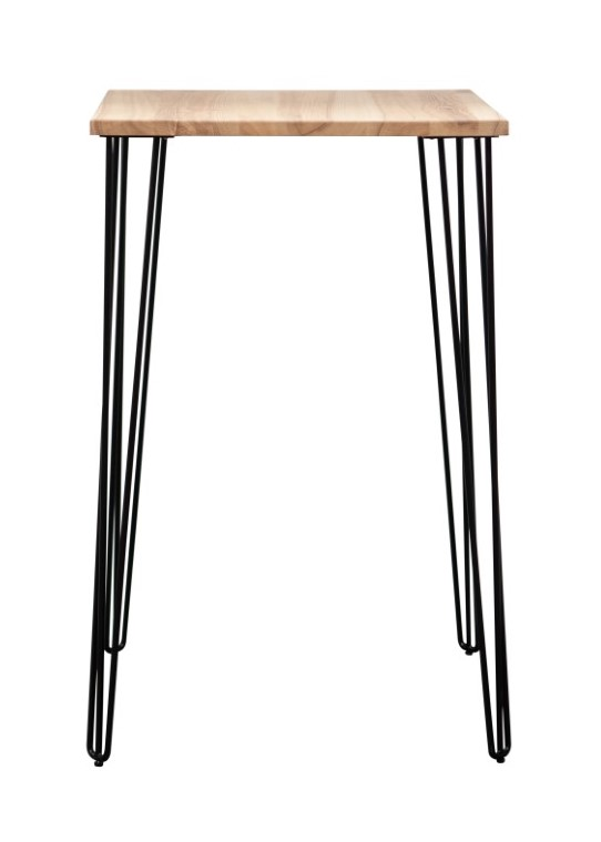 Cocktail Table – Square Ashwood Top With Hairpin Legs