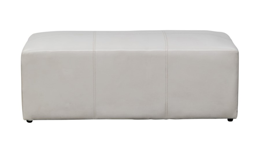 Ottoman – White Rectangle