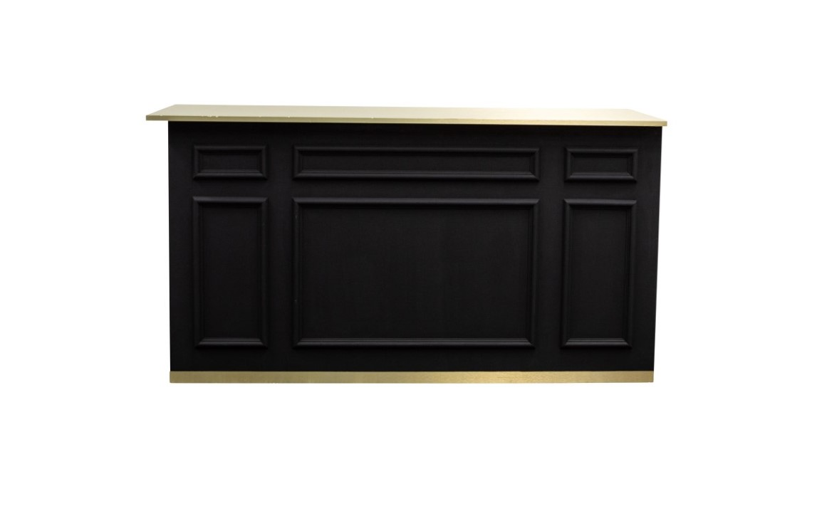 Black Bar with Gold Top and Trim