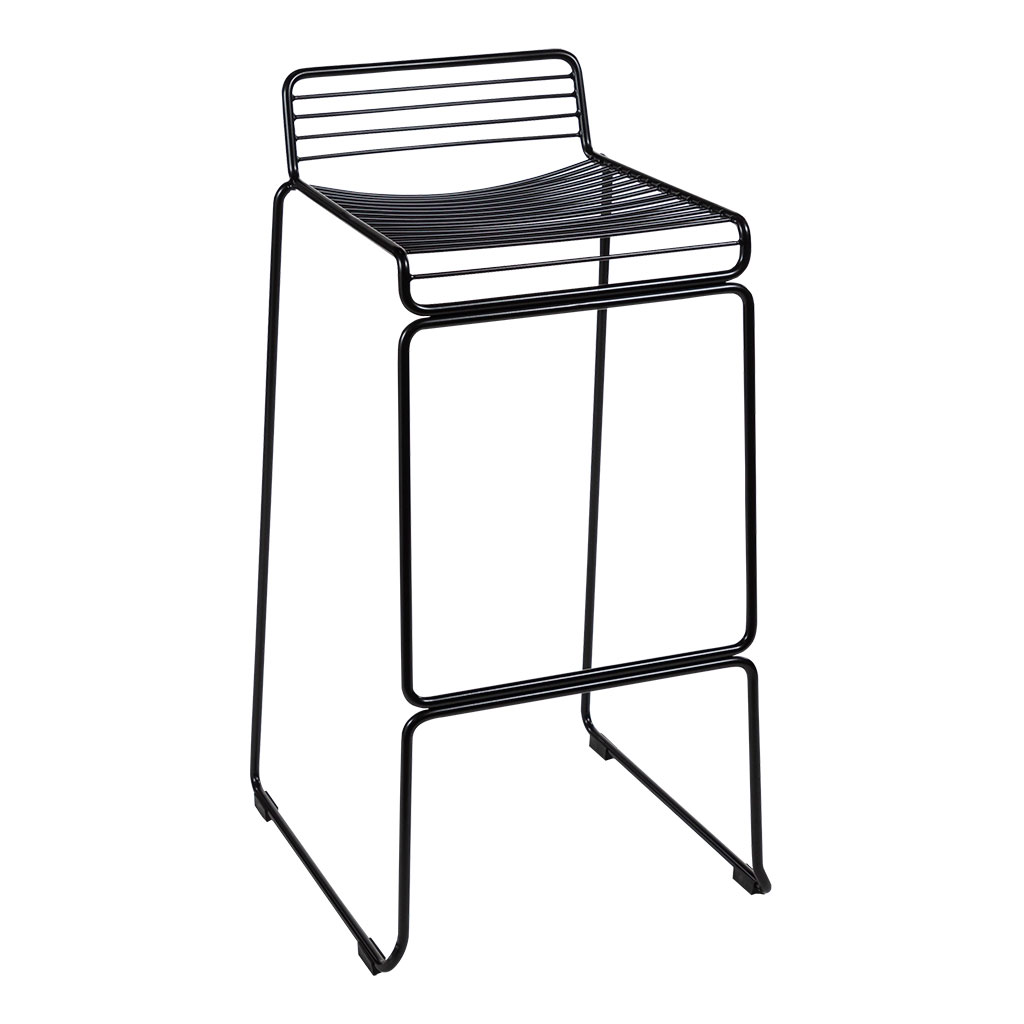 Wire Bar Stool – Low back, Black
