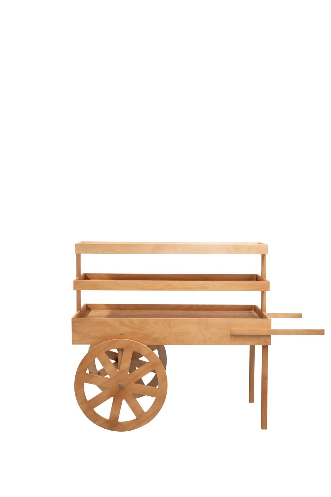 Timber Food Display Cart